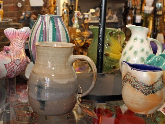 Isaacs' unique pottery and other decorative items,