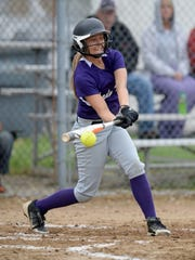 Hagerstown's Gabby Willis swings the bat against Centerville