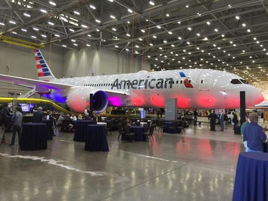 American Airlines' fourth 787 Dreamliner arrived late