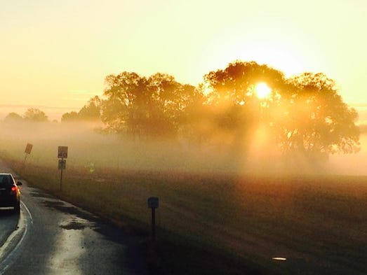 Reporter Ted Czech took this photo of a foggy sunrise