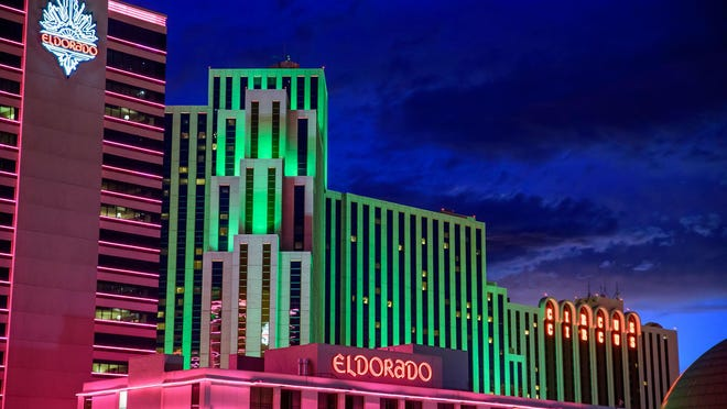 Eldorado Reno with Silver Legacy and Circus Circus in the background.