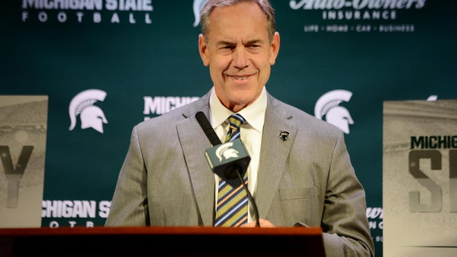 Michigan State football head coach Mark Dantonio talks to the media during Signing Day press conference on Wednesday, Feb. 1, 2017 at Spartan Stadium.