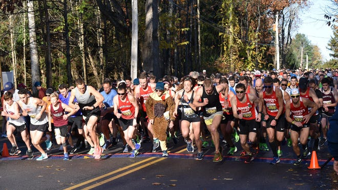 Racers are seen at the starting line of the 2019 Great Bay 5K. This year's race, in October, will be a virtual one due to COVID-19 and will also feature the Great Bay 55K Challenge, which circumnavigates the entire estuary.