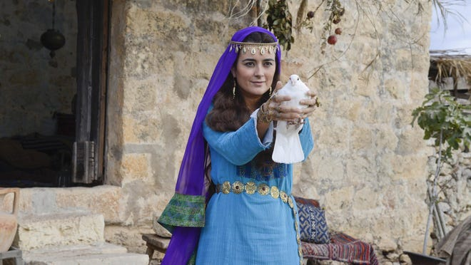 """Cote de Pablo stars in the new CBS two-part miniseries """"The Dovekeepers,"""" based on the best-selling novel of the same name. The show will be on at 9 tonight and Wednesday."""