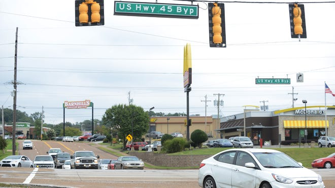 The I-40 interchange on the U.S. 45 Bypass, near Casey Jones Lane, is one of the planned sites for improvement in Jackson.