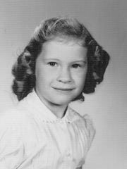 First-grade school photo of Kathy Haney Williams at J. B. Young Elementary School in Bemis.