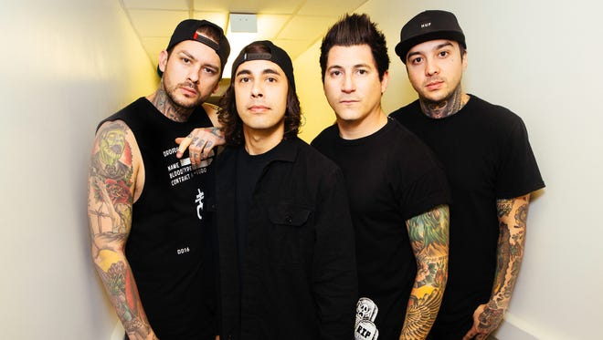 San Diego pop-punk group Pierce the Veil will perform Monday at Tricky Falls in Downtown.