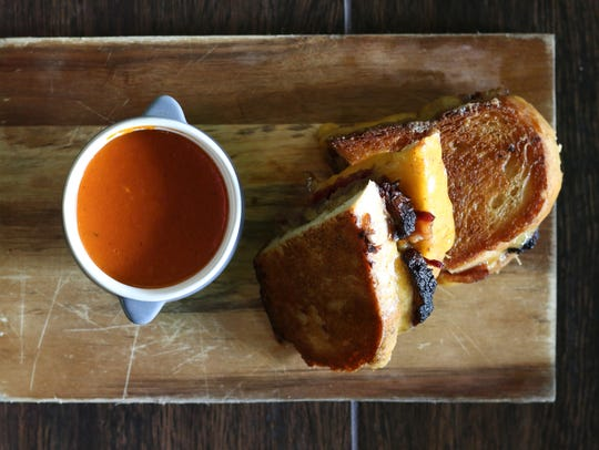 The artisan grilled cheese sandwich at Kitchen West