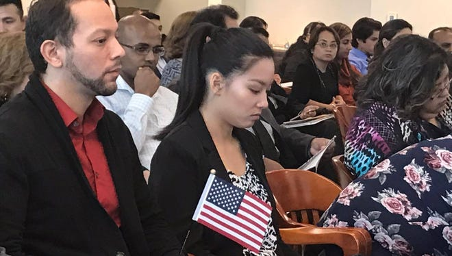 Fifty people became U.S. citizens in Corpus Christi on Wednesday.
