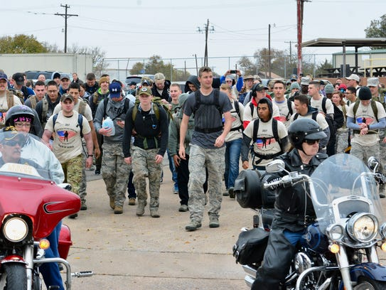Nearly 200 participated in the 10-mile ruck march Saturday,