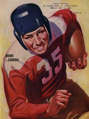 The cover of the 1946 homecoming program, where St.
