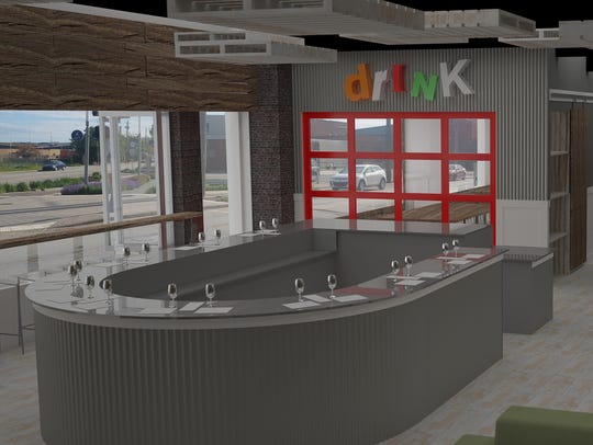 A rendering of Peace Water Winery's future taproom
