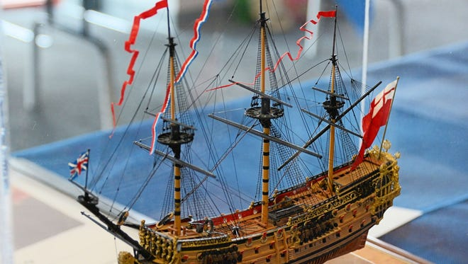 A gold-medal winning model that earned the best miniature award in 2015 at the Midwestern Model Ships & Boats Contest & Display at the Wisconsin Maritime Museum.