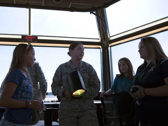 Staff Sgt. Kristen Owens, an air traffic controller