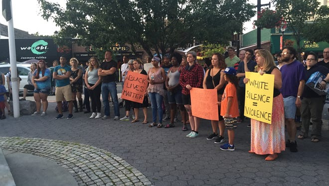 A Black Lives Matter rally was held in downtown Nyack on Monday evening.