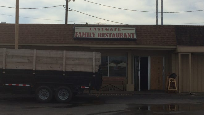 Eastgate Diner sustained heavy damage early Wednesday morning in a fire.