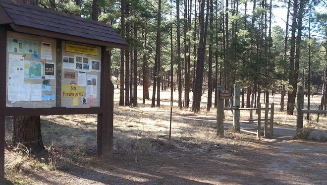 The Geriatric Trail mountain bike loop being created is accessed off the fitness trail in Cedar Creek on the Lincoln National Forest.