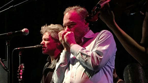 Tim Kaine, plays the harmonica alongside Jon Bon Jovi