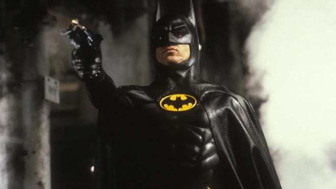 """Michael Keaton got to say """"I'm Batman"""" in 1989. Michael Keaton in a scene from the 1989 motion picture """"Batman."""" --- DATE TAKEN: rcd 1989 No Byline Warner Bros. Pictures HO - handout ORG XMIT: ZX60100"""
