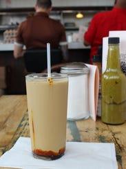 Blackstrap molasses milk at Rose's Fine Food.