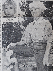 Young Bill Vail pictured in the Jan. 10, 1971, issue of National Enquirer, along with his father, Felix Vail.