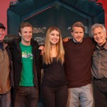 From left, Director/Writer, Phil Wurtzel, Michael Welch, Shelby Young, Cary Elwes, and Producer, Larry Lee.