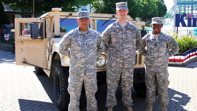 Kings Island is offering free admission to military members May 22-25 in honor of Memorial Day.