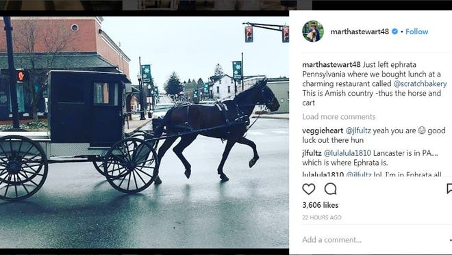 Martha Stewart posted this on Instagram after visiting Scratch Bakes in Ephrata.