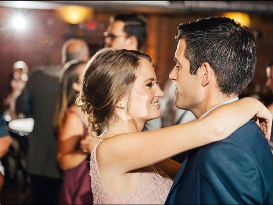 Megan and Brent Waugh share a romantic dance at The