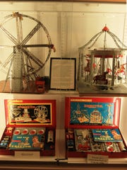One new display includes Erector Sets from the 1950s.