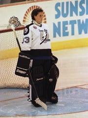 Manon Rheaume appeared in exhibition games for the Tampa Bay Lightning in 1992 and 1993.