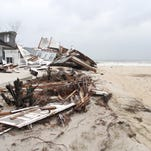 A home in Mantoloking after superstorm Sandy.
