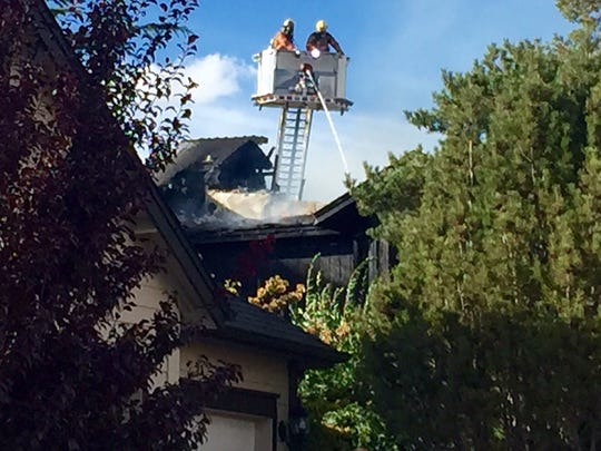 Scene from a Sparks house fire on Wednesday.