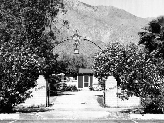 A Palm Canyon Drive apartment complex where murder victim Mary Elaine Costa lived in the '70s.