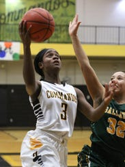 Hendersonville High School player Janaya Mayes puts up a shot during a game against Gallatin High School at Hendersonville on Thursday, Jan. 11.