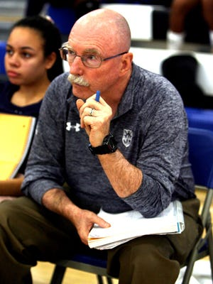 Montclair Kimberley girls volleyball coach Mike Tully led the Cougars to the 2015 Essex County title.