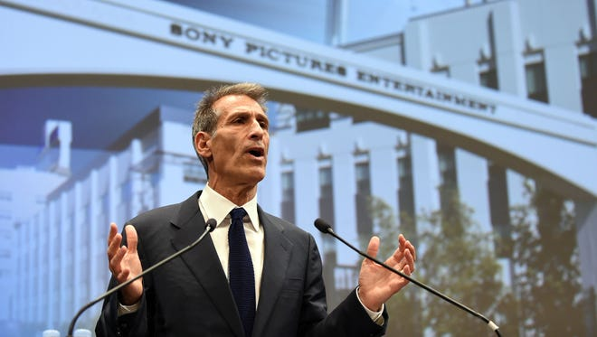 Then Sony Entertainment CEO and Sony Pictures Entertainment chairman and CEO Michael Lynton speaks at the company's headquarters in Tokyo on November 18, 2014. He's now chairman of Snap.