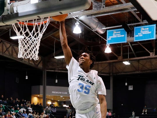 Tulane Green Wave guard Melvin Frazier