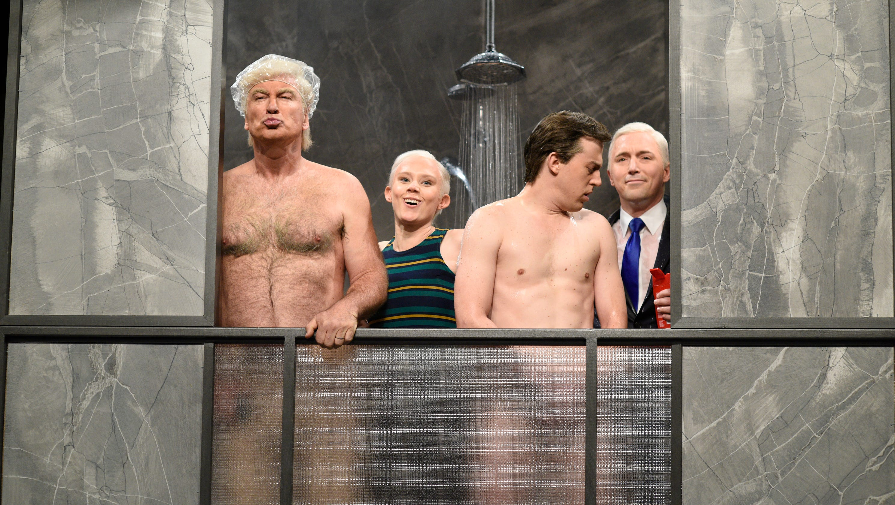 Alec Baldwin opens with Trump impression, Weinstein joke on 'Saturday Night Live'