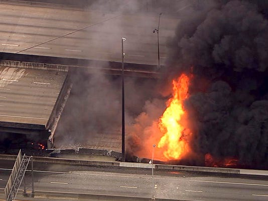 AP APTOPIX OVERPASS COLLAPSE FIRE A USA GA
