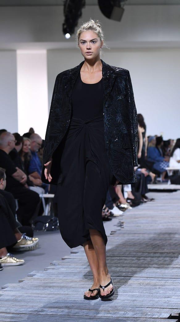 Model Kate Upton walks the runway for the Michael Kors