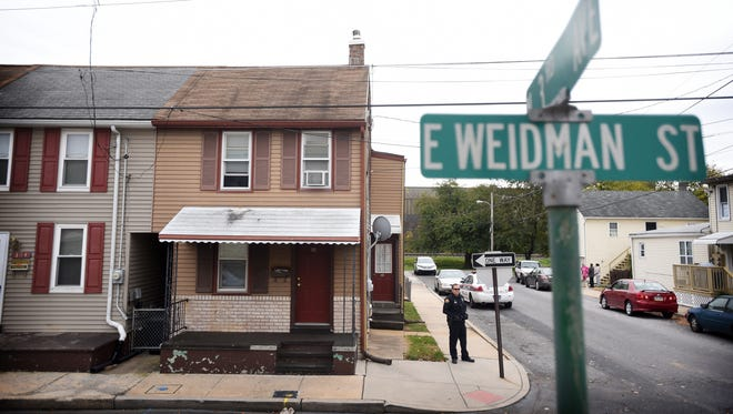 A traumatic injury call at the intersection of East Lehman and Second Avenue in Lebanon Tuesday, Nov. 1, led police to 302 E. Weidman for a report of a possible overdose. The shooting occurred at 302 E. Weidman St. The victim was taken by ambulance to a local hospital and did not appear to be seriously injured.