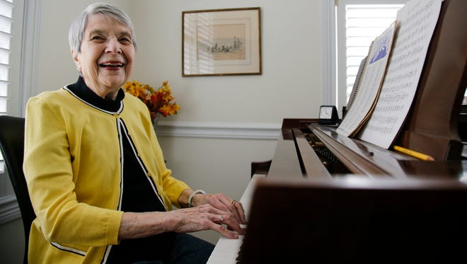 Peggy Wulsin Kite, pictured, Wednesday, March 29, 2017, in Montgomery, Ohio, is the daughter of a president of Baldwin Piano, who led the company through a golden era. She is the last of the Wulsin Family generation, who was responsible for bringing the Baldwin piano brand to world fame.