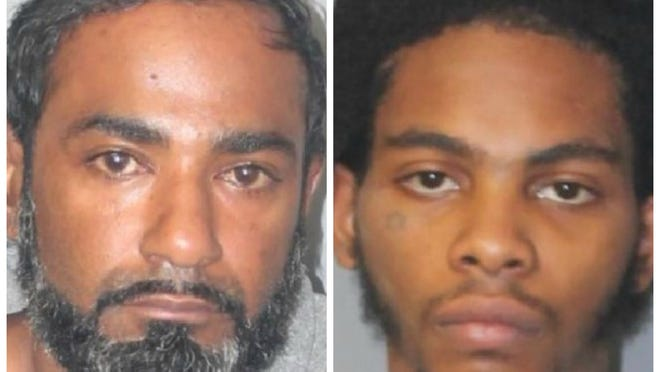Valdir Rodrigues, 39, of Weymouth, left, was arrested in Weymouth, Monday, Oct. 26, 2020, and charged with murder in connection with the Friday, Oct. 23, fatal shooting of Christopher Lascase, 20, of Brockton, at the Super 8 hotel in Brockton. D'Vante Bly-Mollenthiel, 22, of Brockton, right, was arrested on Sunday, Oct. 25, and charged with murder related to the same homicide.