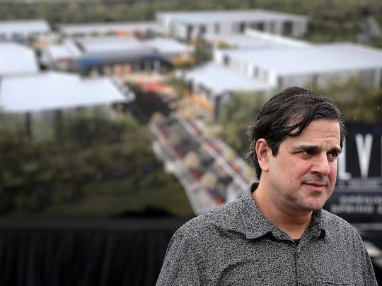 August 15, 2015 -- Elvis Presley Enterprises managing partner Joel Weinshanker talks about the new tourist facilities being built on the west side of Elvis Presley Boulevard. (Jim Weber/The Commercial Appeal)