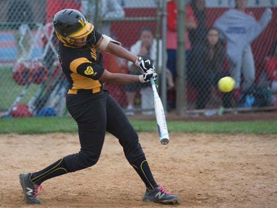A ninth inning hit by catcher Ally Jones drives in