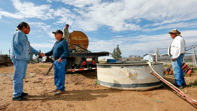 The U.S. Environmental Protection Agency said new tests on emergency water sent to Navajo Nation farmers after the Gold King Mine spill indicate the water met federal and tribal standards for livestock and irrigation.