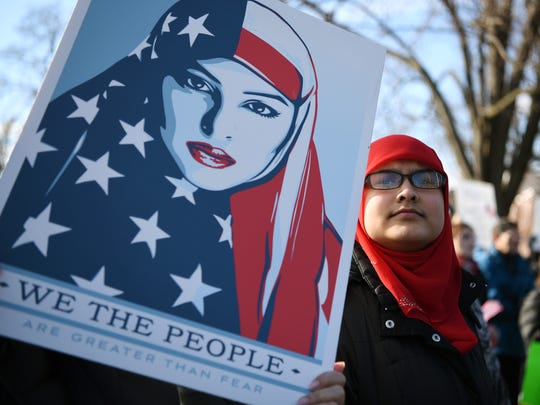 Teaneck Together organized a rally  showing Teaneck will stand together in solidarity with Muslims and immigrants of all nationalities in our community against the ban on immigration signed by President Trump. The rally was held on the Municipal green in Teaneck on Sunday, January 29, 2017.