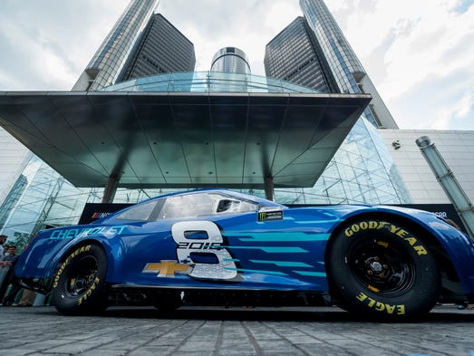 2018 chevrolet nascar cup car.  nascar the 2018 chevrolet camaro zl1 sits in front of the intended chevrolet nascar cup car a