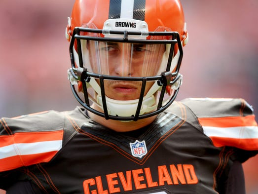Cleveland Browns quarterback Johnny Manziel was demoted
